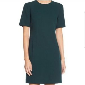 Eliza J Green Crepe Shift Dress Size 8
